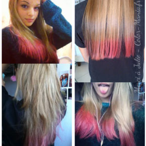 Coloration Cheveux Rose Bonbon - Directions