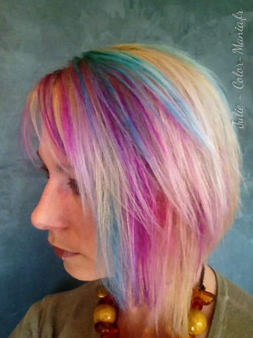 Coloración del cabello turquesa UV - Stargazer