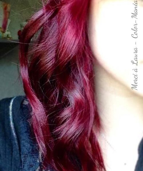 "Merci Laura :) Coloration Cheveux Rouge ""Rubine"" - Directions"