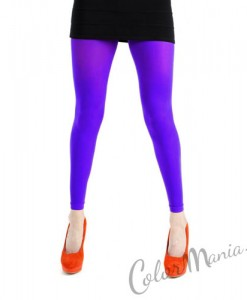 Collants Sans Pieds - Violet Royal