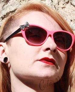 Lunettes de Soleil Cat's Eyes Rose Corail