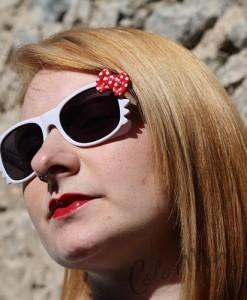 Lunettes de Soleil type Wayfarer Chat Blanches