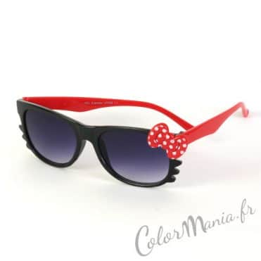 Lunettes de Soleil type Wayfarer Chat Noir et Rouge
