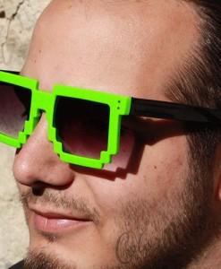 Lunettes de Soleil Geek Pixel - Vert
