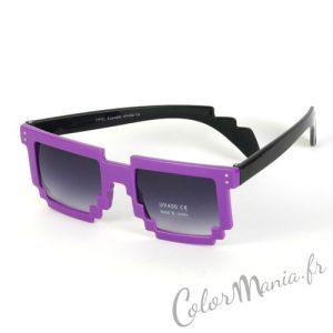 Lunettes de Soleil Geek Pixel - Violet
