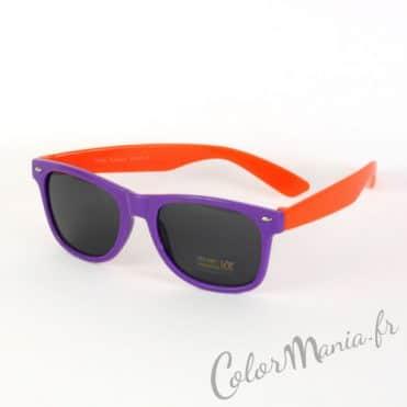 Lunettes de Soleil type Wayfarer Bicolores Violet et Orange 1