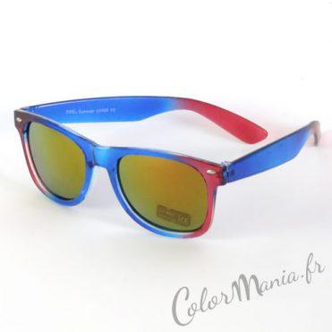 Lunettes de Soleil type Wayfarer Ombré Rouge & Bleu