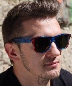 Shaded Wayfarer Gafas de sol Rojo y Azul