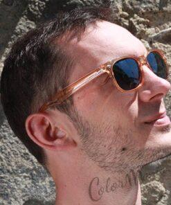 Occhiali trasparenti tipo Wayfarer Arancio