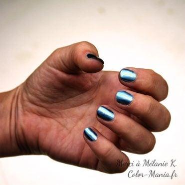 Vernis à Ongles de l'Espace : Chrome Bleu