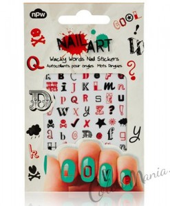 """Nail Art"" Stickers Ongles Message"