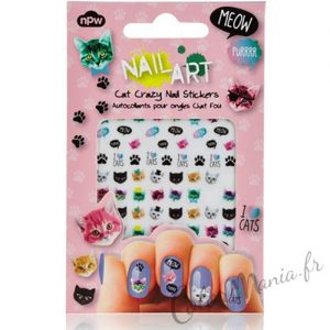 """Nail Art"" Stickers Ongles Chats"