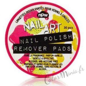 """""""Nail Art"""" Dissolvant Lingettes de Voyage Parfum Vanille"""