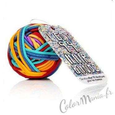 Balle de 99 Elastiques Cheveux Multicolores