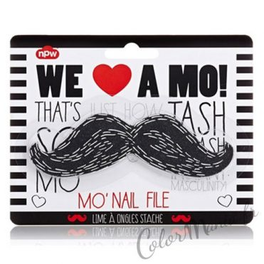 """Nail Art"" Lime à Ongles Moustache Noire"