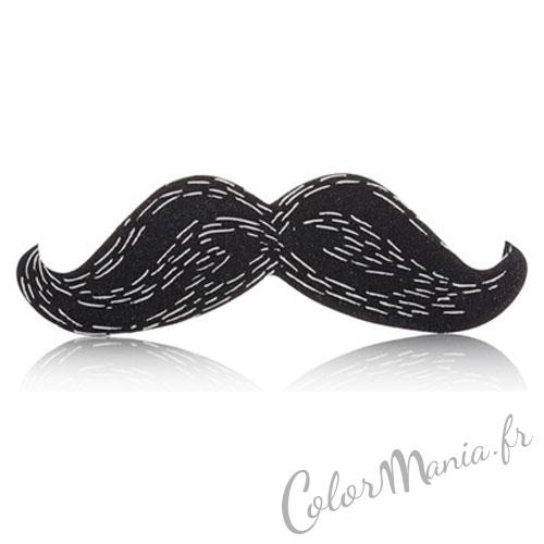 """""""Nail Art"""" Lime à Ongles Moustache Noire"""