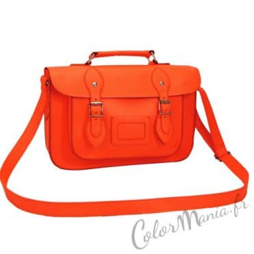 Sac à main « Satchel » Orange Fluo 1