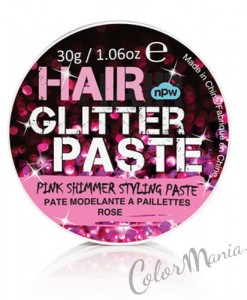 """Hair Glitter"" Gel Cheveux Paillettes Roses"