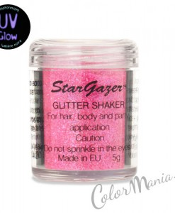Paillettes 'Glitter Shaker' avec Gel Fixateur - Rose UV