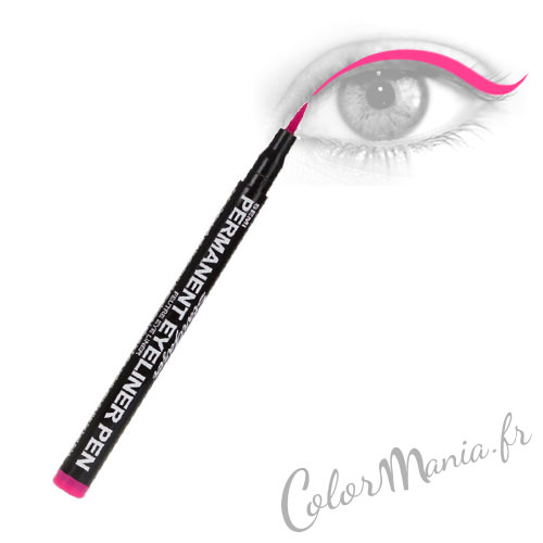 Vestido largo de fieltro llamativo rosa delineador de ojos - Stargazer
