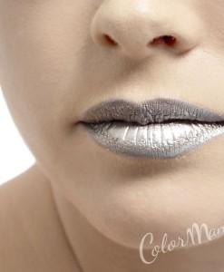 Rouge à Lèvres Couleur Argent Métal – Stargazer