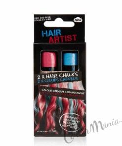 """Gessetti per capelli rossi e blu """"Hair Artist"""""""