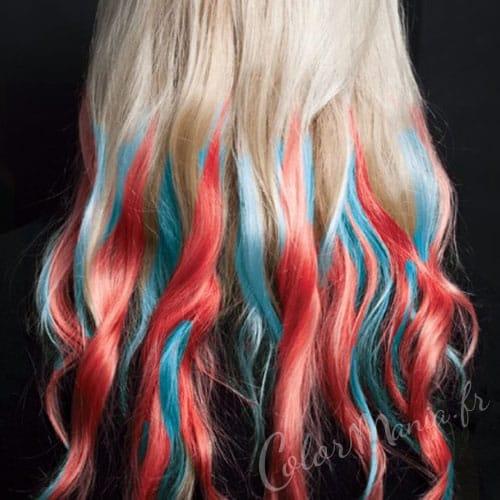 """Tizas para cabello rojo y azul de """"Hair Artist"""""""