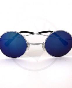 Les Lunettes de Soleil Rondes - Verres Bleus Miroir | Color-Mania