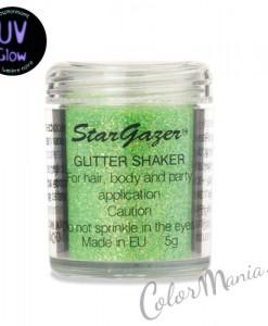 Paillettes 'Glitter Shaker' avec Gel Fixateur - Vert UV