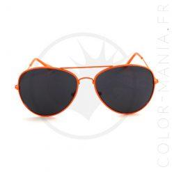 Aviador de gafas de sol de mandarín naranja | Color-Mania