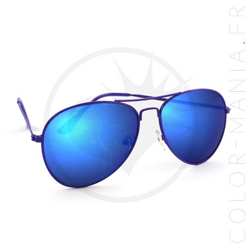 Ray ban verre miroir for Lunette soleil verre bleu miroir