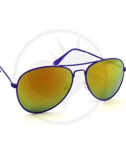 Lunettes de Soleil type Aviator Violet Verres Pétrole | Color-Mania