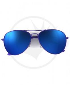 Lunettes de Soleil type Aviator Violet Verres Bleus Effet Miroir | Color-Mania