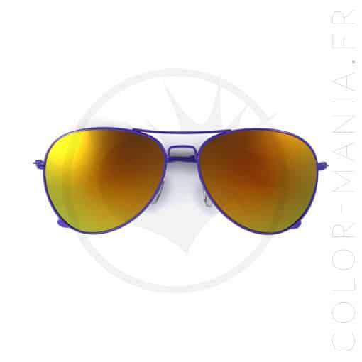 Lunettes de Soleil type Aviator Violet Verres Pétrole   Color-Mania b352b3f3ad18
