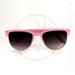 Lunettes de Soleil type Clubmaster Rose Pastel | Color-Mania