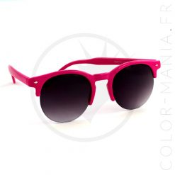 Clubmaster Pink Fucsia gafas de sol redondas | Color-Mania