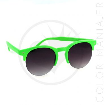 Lunettes de Soleil type Clubmaster Rondes Vertes | Color-Mania