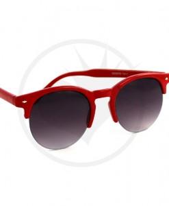 Lunettes de Soleil Rondes type Clubmaster Rouges | Color-Mania