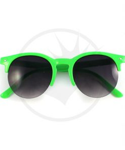 Clubmaster Round Sunglasses Green | Color-Mania