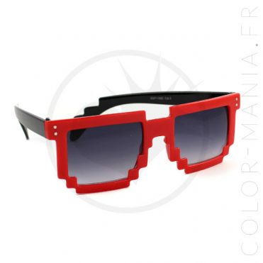 Lunettes Geek Pixels Rouges | Color-Mania