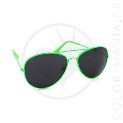 Gafas de sol de aviador verde | Color-Mania