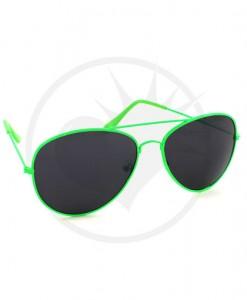 Lunettes de Soleil type Aviator Vert | Color-Mania