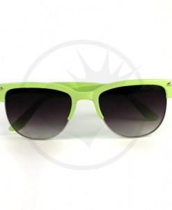 Lunettes de Soleil type Clubmaster Vert Amande | Color-Mania