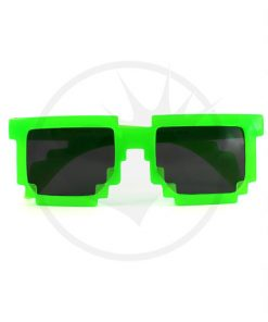 Geek Translucent Green Translucent UV Glasses | Color-Mania