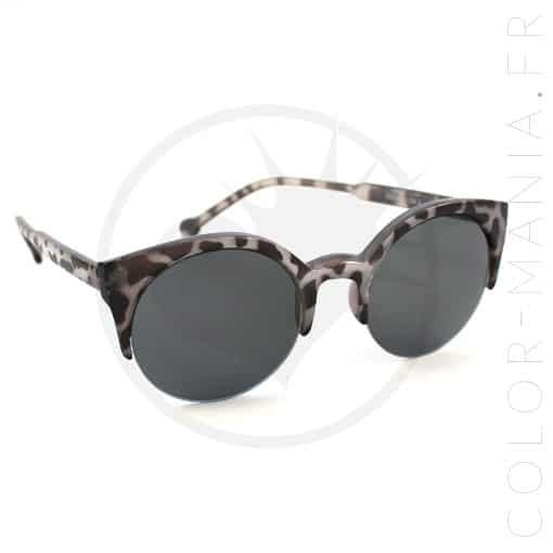 lunettes de soleil cat eye ecaille de tortue noir blanc color mania