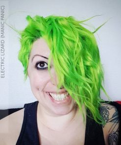 Merci @coffin_rock :) Coloration Cheveux Vert Electric Lizard UV - Manic Panic | Color-Mania