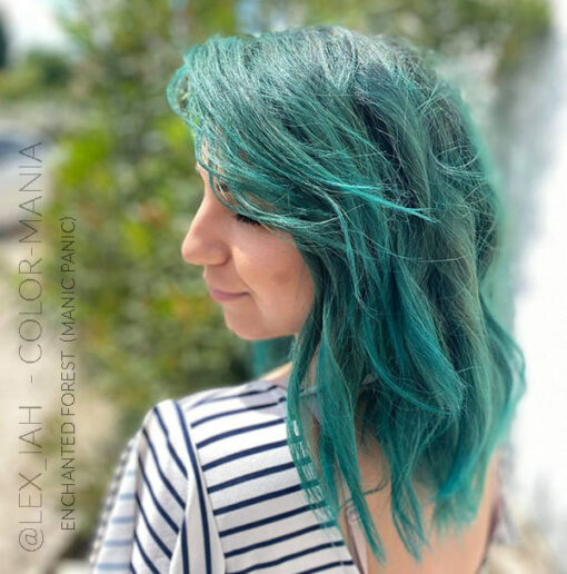 Merci @lex_iah :) Coloration Cheveux Vert Enchanted Forest – Manic Panic | Color-Mania