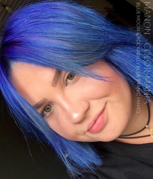 Merci Manon :) Coloration Cheveux Bleu Rockabilly Blue - Manic Panic | Color-Mania