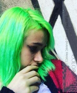 Merci @little.black.diamonds :) Coloration Cheveux Vert Electric Lizard UV - Manic Panic | Color-Mania