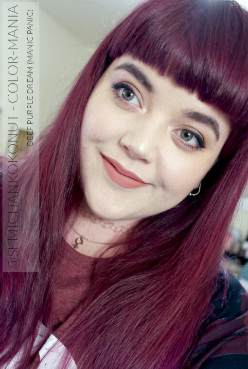 Merci @semichankokonut :) Coloration Cheveux Violet Deep Purple Dream - Manic Panic | Color-Mania